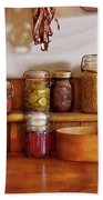 Food - I Love Preserving Things Beach Towel by Mike Savad