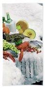 Food On Ice Beach Sheet
