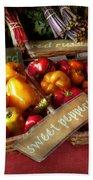 Food - Vegetables - Sweet Peppers For Sale Beach Towel