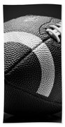 Football Black And White Beach Towel
