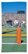 Football Game, University Of Michigan Beach Towel
