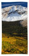 Foothills Of Gold Beach Towel by Darren  White