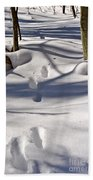Footprints In The Snow Beach Towel