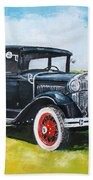 Ford A Tudor Sedan Beach Towel