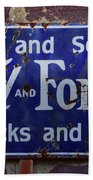 Ford And Fordson Sign Beach Towel