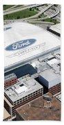 Ford Field Detroit Beach Towel