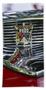 Ford Hood Emblem Beach Towel