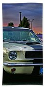Ford Mustang At Sunset Beach Towel