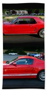 Ford Mustang Old Or New Beach Towel
