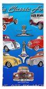 Another Ford Poster Beach Towel
