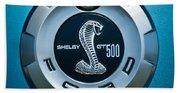 Ford Shelby Gt 500 Cobra Emblem Beach Towel