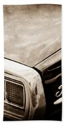 Ford Thunderbird Taillight Emblem Beach Towel