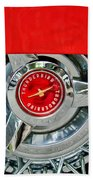 Ford Thunderbird Wheel Emblem Beach Towel