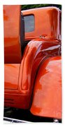 Ford V8 Rear View With Rumble Seat Beach Towel