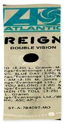 Foreigner Double Vision Side 1 Beach Towel