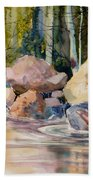 Forest And River Beach Towel