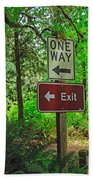 Forest Exit Beach Towel
