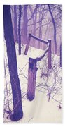 Forest Fence Beach Towel