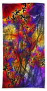 Forest Fire Beach Towel