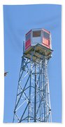 Forest Fire Watch Tower Steel Lookout Structure Beach Towel
