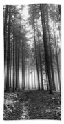 Forest In The Mist Beach Towel