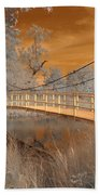 Forest Park Bridge Infrared Beach Towel