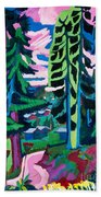 Forest Path In Summer Beach Towel