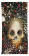 Forest Skull Pop Art Beach Towel