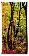 Forest Waves Beach Towel