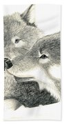 Forever Wolf Love-the Greeting Beach Towel