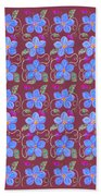 Forgetmenot Pattern On Marsala In Square Beach Towel