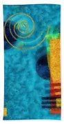 Formes 02b Beach Towel by Variance Collections