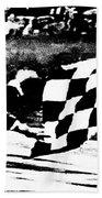Formula 1 Vintage Checkered Flag Beach Towel