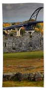 Fort Crown Point At Lake Champlain Beach Towel