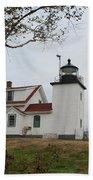 Fort Point Lighthouse 9239 Beach Towel