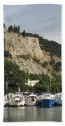 Fortress And Harbor Cassis Beach Towel