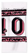 Forty Pink And Black Beach Towel
