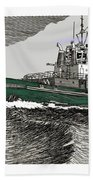 Foss Tractor Tugboat Beach Towel