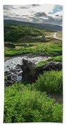 Fossa Waterfall In Hvalfjordur, Iceland Beach Towel
