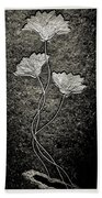 Fossilized Flowers Beach Towel