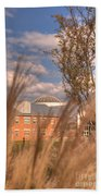 Founders Hall Through The Grasses Beach Towel