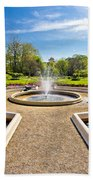 Fountain And Park In Zagreb Beach Towel