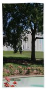Fountain At Capitol Square  Beach Towel