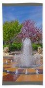 Fountain In Coolidge Park Beach Towel