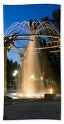 Fountain In Riverfront Park Beach Towel