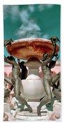 Fountain Of The Tortoises Ringling Museum Sarasota Beach Towel