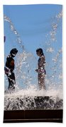 Fountain Of Youth Beach Towel by Karen Wiles