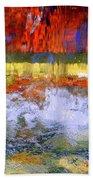 Fountain Splash Beach Towel