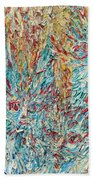 Four Expressionist Cats Beach Towel