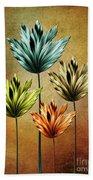 Four Fractal Flower Beach Towel